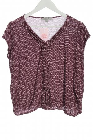 Comma Slip-over Blouse red-white allover print casual look