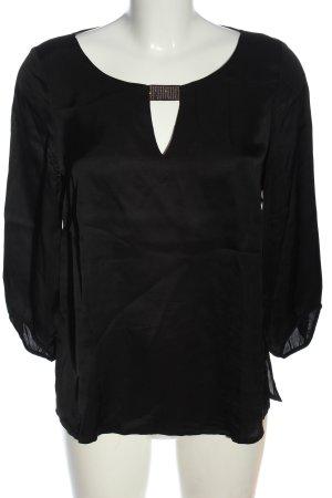 Comma Schlupf-Bluse schwarz Casual-Look
