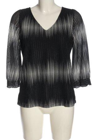 Comma Slip-over Blouse black-white abstract pattern elegant