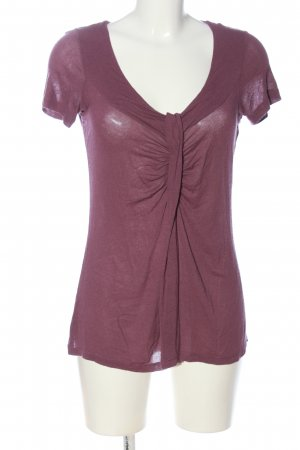 Comma Schlupf-Bluse pink meliert Casual-Look