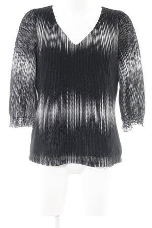 Comma Schlupf-Bluse schwarz-weiß Casual-Look