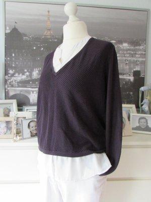 Comma * Schöner Lagen Pullover Bluse+Pullover * navy-weiß * 44
