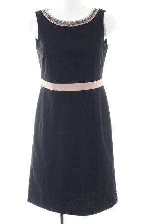 Comma schulterfreies Kleid schwarz-creme Elegant
