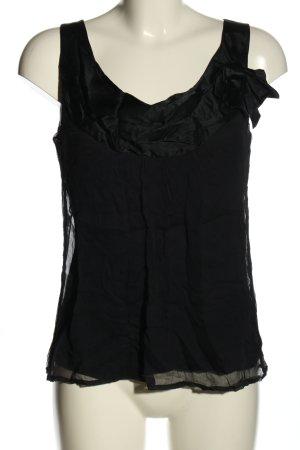 Comma Haut en soie noir style décontracté