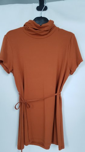 Comma Turtleneck Shirt cognac-coloured-dark orange