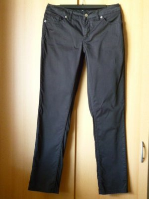 Comma Slim Fit-Hose, Business-Casual, schwarz Gr. 36
