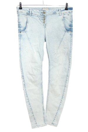Comma Slim Jeans blau Casual-Look