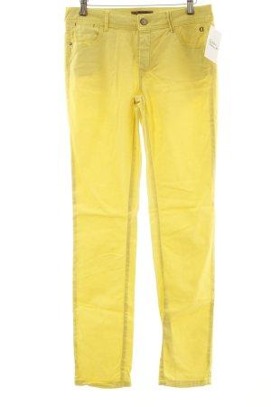 Comma Slim Jeans neongelb Street-Fashion-Look