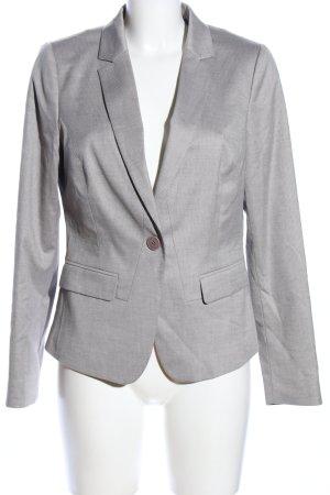 Comma Blazer de esmoquin gris claro Patrón de tejido estilo «business»