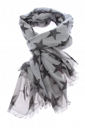 Comma Summer Scarf light grey-black abstract pattern casual look