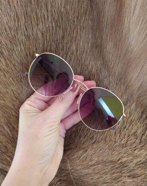 Comma Okrągłe okulary przeciwsłoneczne złoto Metal