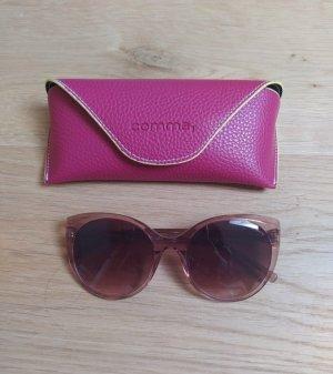 Comma Ovale zonnebril roze