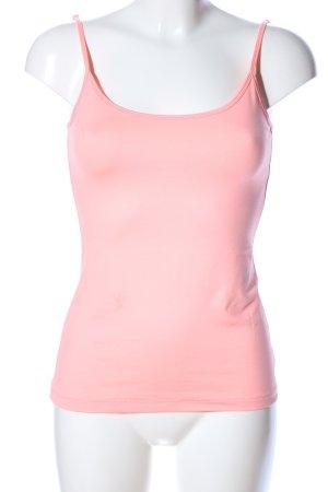 Comma Haut à fines bretelles rose style décontracté
