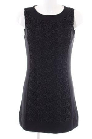 Comma Spitzenkleid schwarz Blumenmuster Elegant