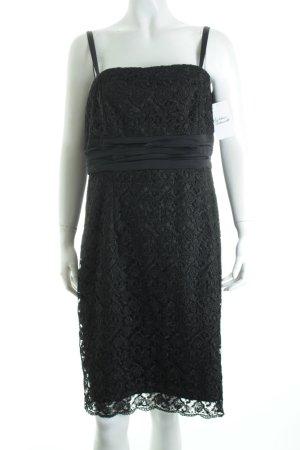 Comma Spitzenkleid schwarz Elegant