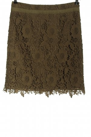 Comma Lace Skirt brown flower pattern casual look