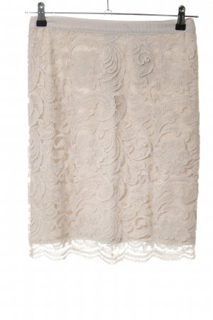 Comma Falda de encaje crema estampado floral elegante
