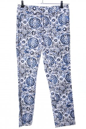Comma Stoffhose abstraktes Muster Casual-Look