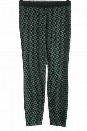 Comma Jersey Pants green allover print casual look