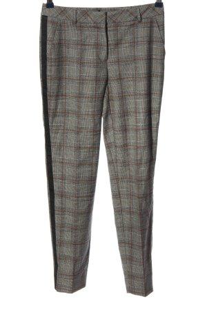 Comma Pantalone jersey motivo a quadri stile casual