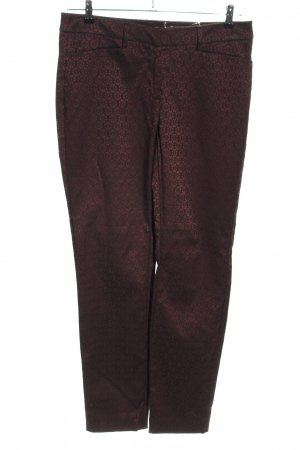 Comma Stoffhose braun Allover-Druck Business-Look
