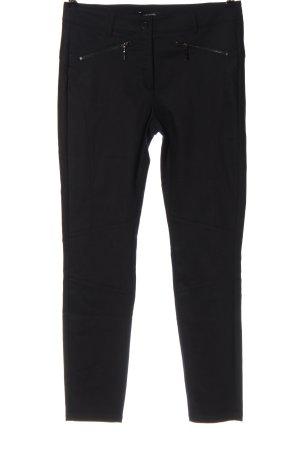 Comma Pantalon en jersey noir élégant