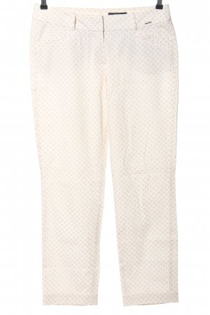 Comma Stoffhose creme-weiß Allover-Druck Casual-Look