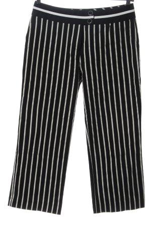 Comma Stoffhose schwarz-weiß Streifenmuster Casual-Look