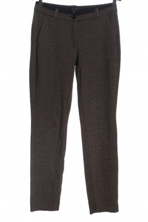Comma Jersey Pants black-cream striped pattern casual look