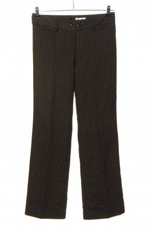 Comma Stoffhose braun Business-Look