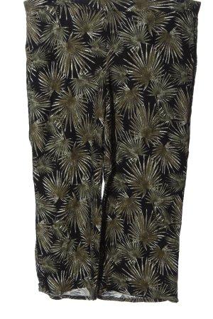 Comma Jersey Pants black-khaki allover print casual look