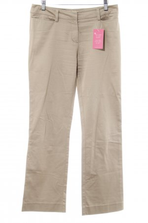 Comma Stoffhose beige Webmuster Casual-Look