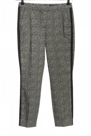 Comma Stoffhose schwarz-weiß grafisches Muster Casual-Look