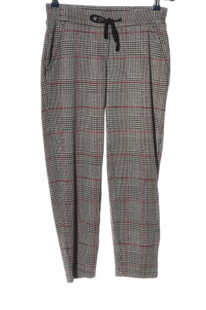 Comma Stoffhose Karomuster Casual-Look