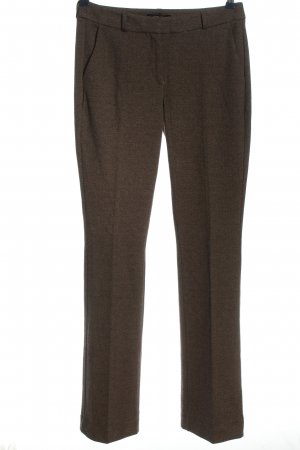 Comma Stoffhose braun Webmuster Business-Look