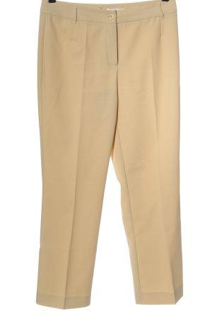 Comma Pantalon en jersey crème style d'affaires