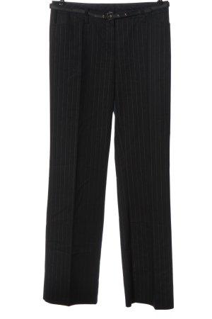 Comma Stoffhose schwarz-weiß Streifenmuster Business-Look