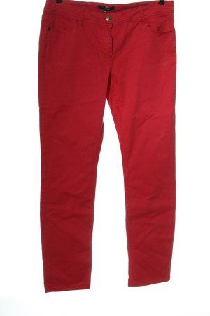 Comma Jeansy z prostymi nogawkami czerwony W stylu casual