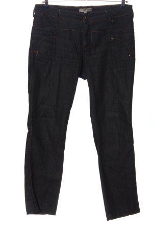 Comma Jeans coupe-droite bleu style décontracté