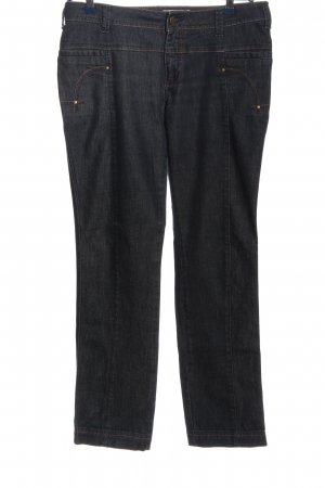 Comma Straight-Leg Jeans blau Casual-Look