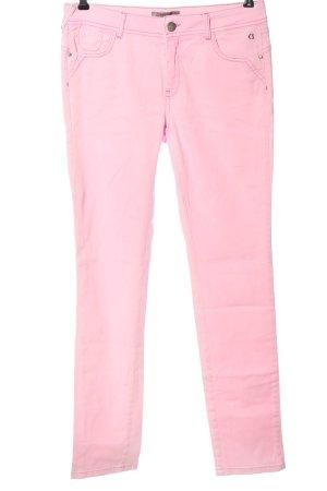 Comma Jeansy z prostymi nogawkami różowy Wzór w paski W stylu casual