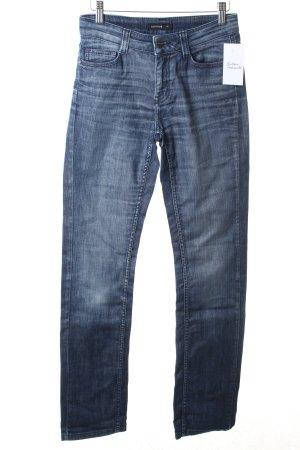 Comma Straight-Leg Jeans dunkelblau Casual-Look