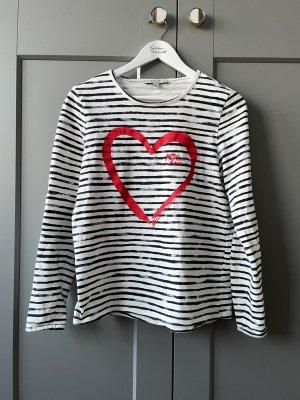 Comma Streifenshirt mit Herz Größe 36 bzw. S