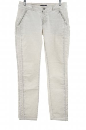 Comma Stretchhose beige Casual-Look