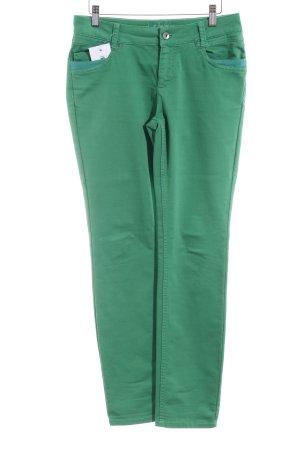 Comma Stretchhose grün Casual-Look