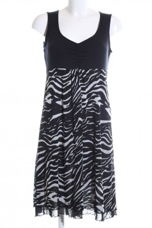 Comma Stretch Dress black-white animal pattern casual look