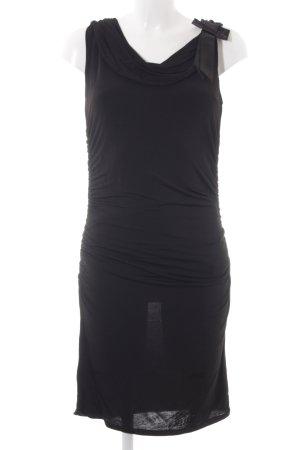 Comma Stretchkleid schwarz Elegant