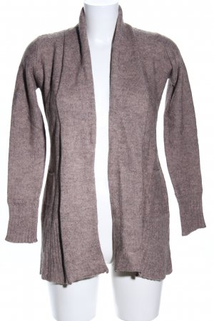 Comma Strick Cardigan braun-wollweiß meliert Casual-Look