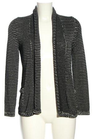 Comma Strick Cardigan schwarz-weiß Casual-Look