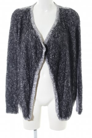 Comma Strick Cardigan schwarz-weiß meliert Casual-Look